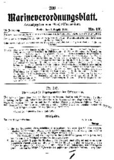 Marineverordnungsblatt, Nr.17, 1917
