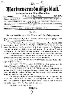 Marineverordnungsblatt, Nr.18, 1917