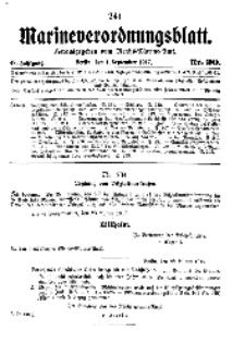 Marineverordnungsblatt, Nr.20, 1917