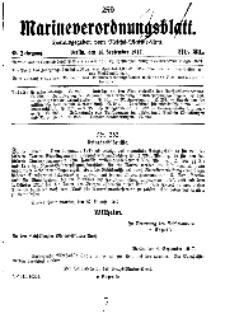 Marineverordnungsblatt, Nr.21, 1917