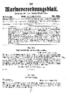 Marineverordnungsblatt, Nr.22, 1917