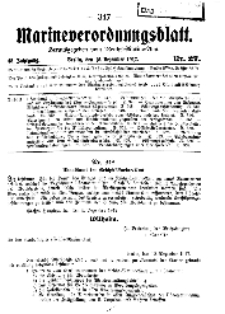 Marineverordnungsblatt, Nr.27, 1917
