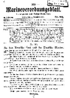Marineverordnungsblatt, Nr.28, 1917
