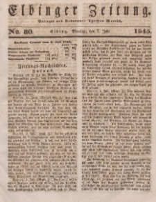 Elbinger Zeitung, No. 80 Montag, 7. Juli 1845