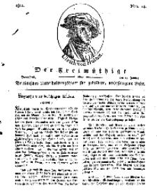 Der Freimüthige, oder Berlinisches Unterhaltungsblatt für gebildete, unbefangene Leser, 19 Januar 1811, Nr. 14