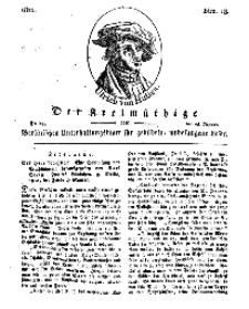 Der Freimüthige, oder Berlinisches Unterhaltungsblatt für gebildete, unbefangene Leser, 25 Januar 1811, Nr. 18