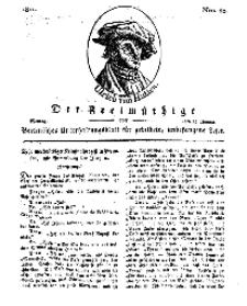 Der Freimüthige, oder Berlinisches Unterhaltungsblatt für gebildete, unbefangene Leser, 28 Januar 1811, Nr. 20