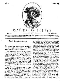 Der Freimüthige, oder Berlinisches Unterhaltungsblatt für gebildete, unbefangene Leser, 8 Februar 1811, Nr. 28