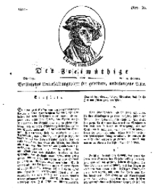Der Freimüthige, oder Berlinisches Unterhaltungsblatt für gebildete, unbefangene Leser, 19 Februar 1811, Nr. 36