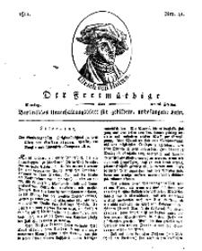 Der Freimüthige, oder Berlinisches Unterhaltungsblatt für gebildete, unbefangene Leser, 26 Februar 1811, Nr. 41