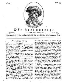 Der Freimüthige, oder Berlinisches Unterhaltungsblatt für gebildete, unbefangene Leser, 2 März 1811, Nr. 44