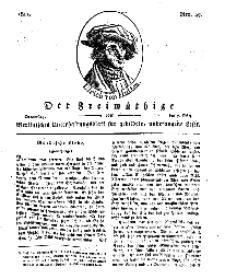 Der Freimüthige, oder Berlinisches Unterhaltungsblatt für gebildete, unbefangene Leser, 7 März 1811, Nr. 47