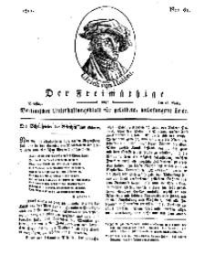 Der Freimüthige, oder Berlinisches Unterhaltungsblatt für gebildete, unbefangene Leser, 26 März 1811, Nr. 61
