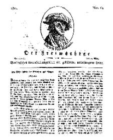 Der Freimüthige, oder Berlinisches Unterhaltungsblatt für gebildete, unbefangene Leser, 30 März 1811, Nr. 64