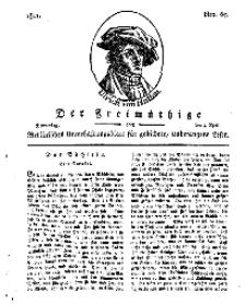 Der Freimüthige, oder Berlinisches Unterhaltungsblatt für gebildete, unbefangene Leser, 4 April 1811, Nr. 67
