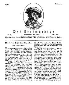 Der Freimüthige, oder Berlinisches Unterhaltungsblatt für gebildete, unbefangene Leser, 9 April 1811, Nr. 71