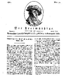 Der Freimüthige, oder Berlinisches Unterhaltungsblatt für gebildete, unbefangene Leser, 18 April 1811, Nr. 77