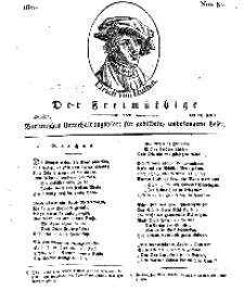 Der Freimüthige, oder Berlinisches Unterhaltungsblatt für gebildete, unbefangene Leser, 23 April 1811, Nr. 81