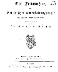 Der Freimüthige, oder Berlinisches Unterhaltungsblatt für gebildete, unbefangene Leser, Mai 1811, Inhalt
