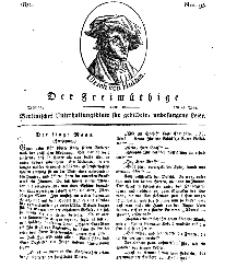 Der Freimüthige, oder Berlinisches Unterhaltungsblatt für gebildete, unbefangene Leser, 13 Mai 1811, Nr. 95