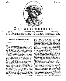 Der Freimüthige, oder Berlinisches Unterhaltungsblatt für gebildete, unbefangene Leser, 17 Mai 1811, Nr. 98
