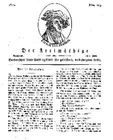 Der Freimüthige, oder Berlinisches Unterhaltungsblatt für gebildete, unbefangene Leser, 1 Juni 1811, Nr. 109