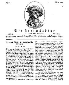 Der Freimüthige, oder Berlinisches Unterhaltungsblatt für gebildete, unbefangene Leser, 3 Juni 1811, Nr. 110