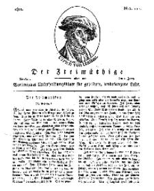 Der Freimüthige, oder Berlinisches Unterhaltungsblatt für gebildete, unbefangene Leser, 4 Juni 1811, Nr. 111