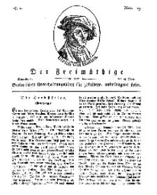 Der Freimüthige, oder Berlinisches Unterhaltungsblatt für gebildete, unbefangene Leser, 15 Juni 1811, Nr. 119