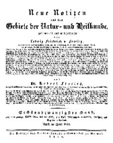 Neue Notizen aus dem Gebiete der Natur- und Heilkunde, 1843 (Bd. XXVI, nr 1), April - No 551