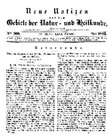 Neue Notizen aus dem Gebiete der Natur- und Heilkunde, 1843 (Bd. XXVI, nr 10), Mai - No 560