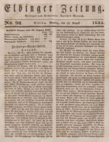 Elbinger Zeitung, No. 98 Montag, 18. August 1845