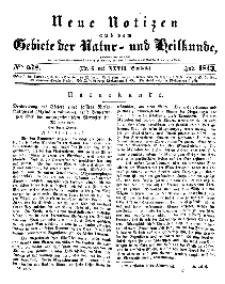 Neue Notizen aus dem Gebiete der Natur- und Heilkunde, 1843 (Bd. XXVII, nr 6), Juli - No 578