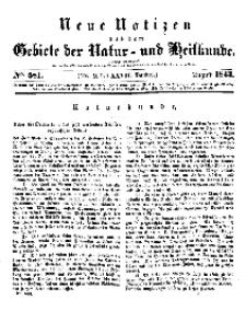 Neue Notizen aus dem Gebiete der Natur- und Heilkunde, 1843 (Bd. XXVII, nr 9), August - No 581