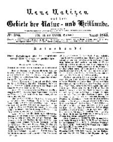 Neue Notizen aus dem Gebiete der Natur- und Heilkunde, 1843 (Bd. XXVII, nr 13), August - No 585