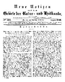 Neue Notizen aus dem Gebiete der Natur- und Heilkunde, 1843 (Bd. XXVII, nr 14), August - No 586