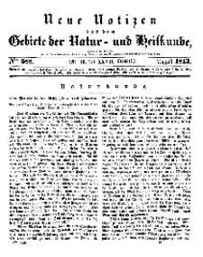 Neue Notizen aus dem Gebiete der Natur- und Heilkunde, 1843 (Bd. XXVII, nr 16), August - No 588