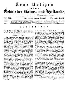 Neue Notizen aus dem Gebiete der Natur- und Heilkunde, 1843 (Bd. XXVII, nr 18), September - No 590