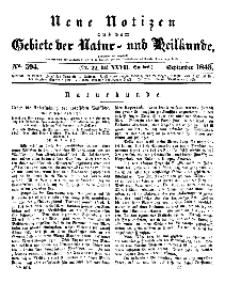 Neue Notizen aus dem Gebiete der Natur- und Heilkunde, 1843 (Bd. XXVII, nr 22), September - No 594