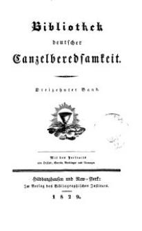 Bibliothek deutscher Canzelberedsamkeit, Bd. 13