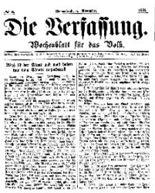 Die Verfassung : Wochenblatt für das Volk, Sonnabend, 5. November, Nr 6, 1864