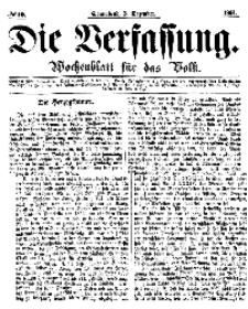 Die Verfassung : Wochenblatt für das Volk, Sonnabend, 3. Dezember, Nr 10, 1864