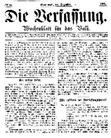 Die Verfassung : Wochenblatt für das Volk, Sonnabend, 10. Dezember, Nr 11, 1864