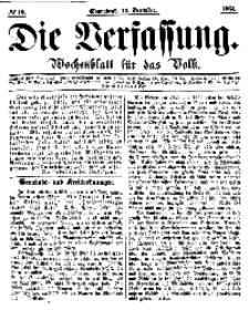 Die Verfassung : Wochenblatt für das Volk, Sonnabend, 17. Dezember, Nr 12, 1864