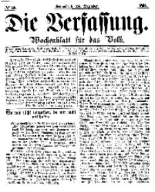 Die Verfassung : Wochenblatt für das Volk, Sonnabend, 24. Dezember, Nr 13, 1864