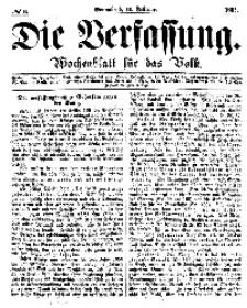 Die Verfassung : Wochenblatt für das Volk, Sonnabend, 11. Februar, Nr 6, 1865