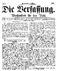 Die Verfassung : Wochenblatt für das Volk, Sonnabend, 4. März, Nr 9, 1865