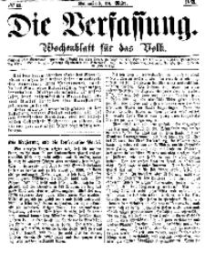 Die Verfassung : Wochenblatt für das Volk, Sonnabend, 18. März, Nr 11, 1865
