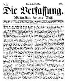 Die Verfassung : Wochenblatt für das Volk, Sonnabend, 27. Mai, Nr 21, 1865