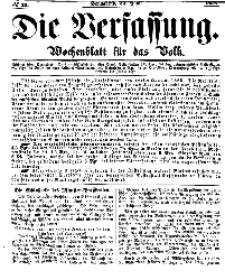 Die Verfassung : Wochenblatt für das Volk, Sonnabend, 24. Juni, Nr 25, 1865